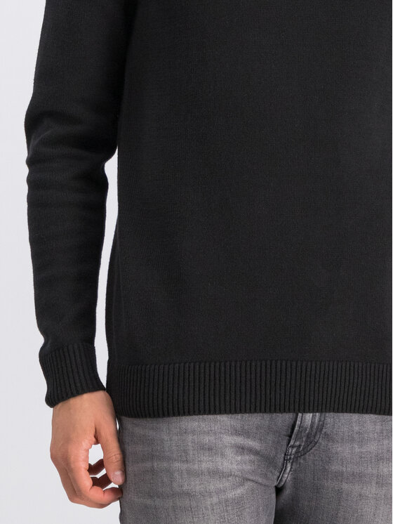 Tommy Jeans Tommy Jeans Sweter Essential DM0DM07000 Czarny Regular Fit