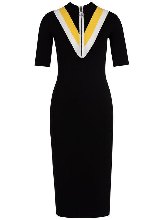 Guess Guess Φόρεμα υφασμάτινο W93K91 Z2FW0 Μαύρο Slim Fit