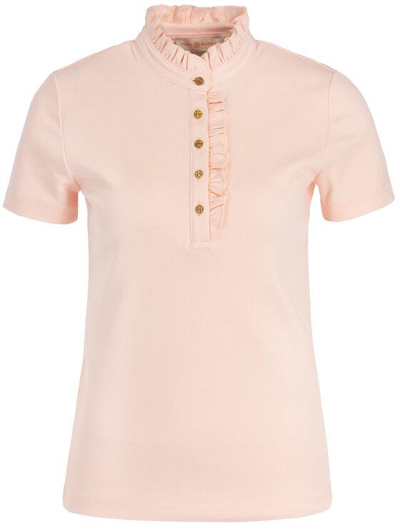 Tory Burch Tory Burch Тениска с яка и копчета 48392 Розов Relaxed Fit
