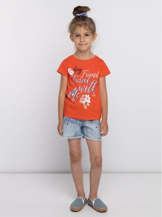Primigi Primigi Тишърт Jersey 43222556 Оранжев Regular Fit
