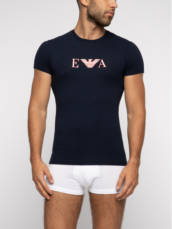 Emporio Armani Underwear Emporio Armani Underwear Tričko 111035 9P523 00135 Tmavomodrá Regular Fit