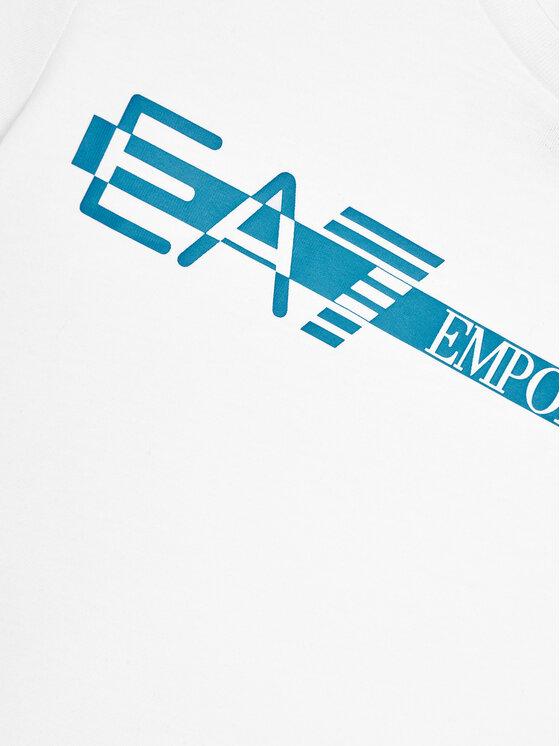 EA7 Emporio Armani EA7 Emporio Armani T-Shirt 3KBT58 BJ02Z Biały Regular Fit