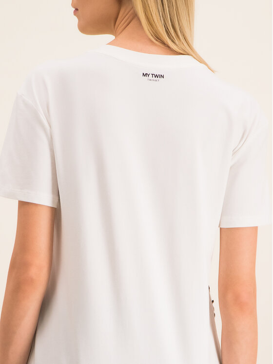My Twin My Twin T-shirt 201MP235H Blanc Regular Fit
