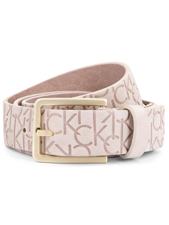 Calvin Klein Calvin Klein Cintura da donna Logo Embossed Belt N K60K604326 75 Beige