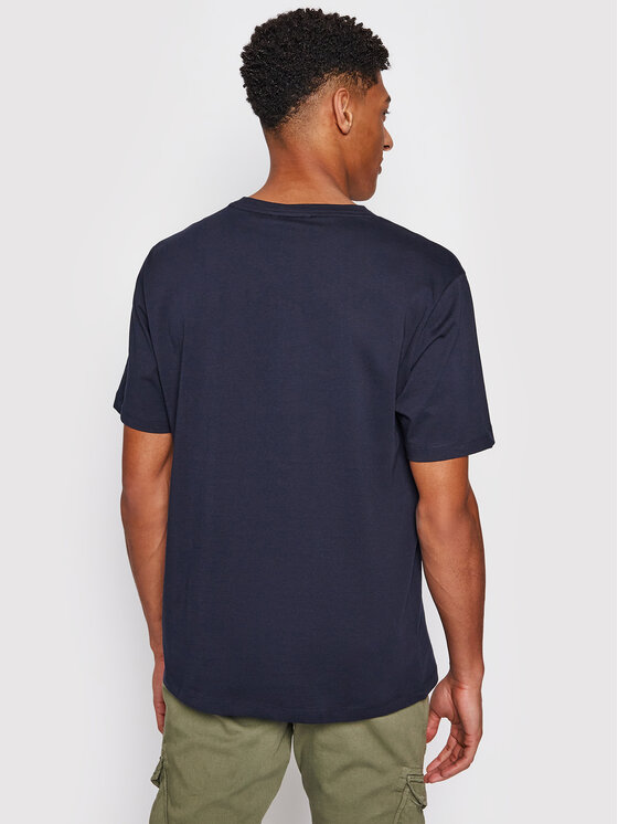 Tommy Jeans Tommy Jeans Тишърт Drop Shoulder Tee UM0UM02115 Тъмносин Regular Fit