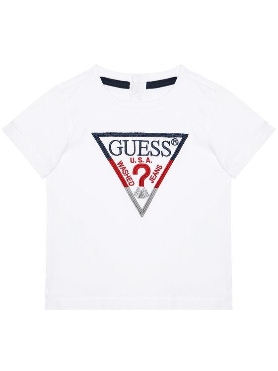 Guess Guess T-Shirt H1RT06 K8HM0 Biały Regular Fit