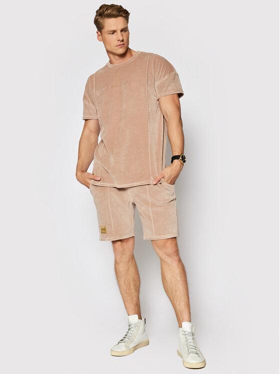 LaManuel Sportinis kostiumas Velour Summer Set Smėlio Regular Fit