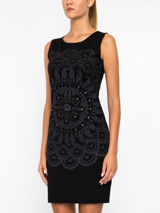 Desigual Desigual Koktejlové šaty 19WWVK28 Černá Slim Fit