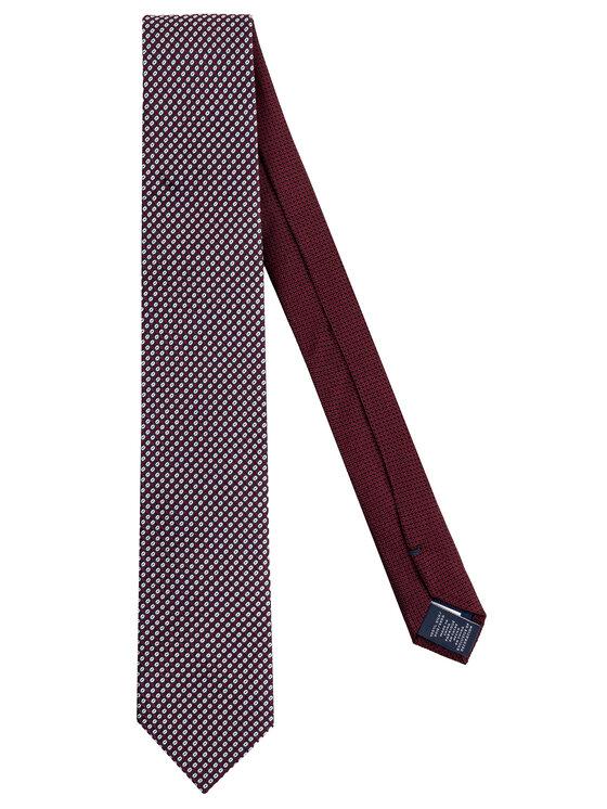 Tommy Hilfiger Tailored Tommy Hilfiger Tailored Krawat Micro Print TT0TT06092 Bordowy
