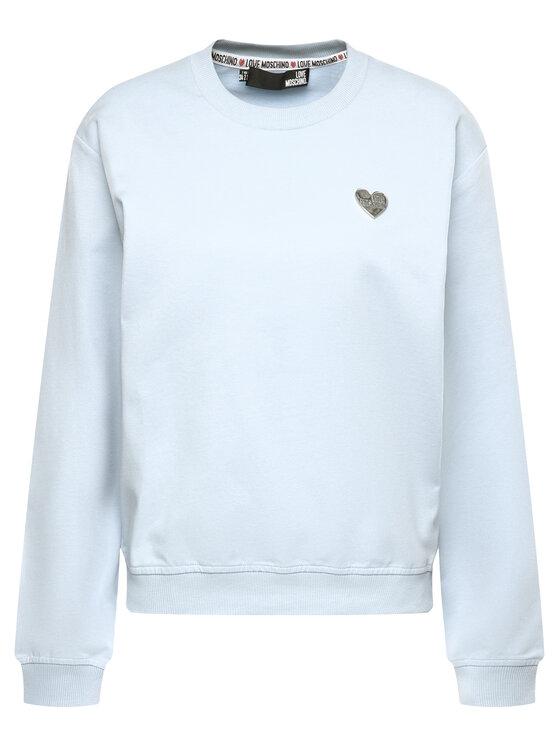 LOVE MOSCHINO LOVE MOSCHINO Sweatshirt W630682E 2124 Blau Regular Fit