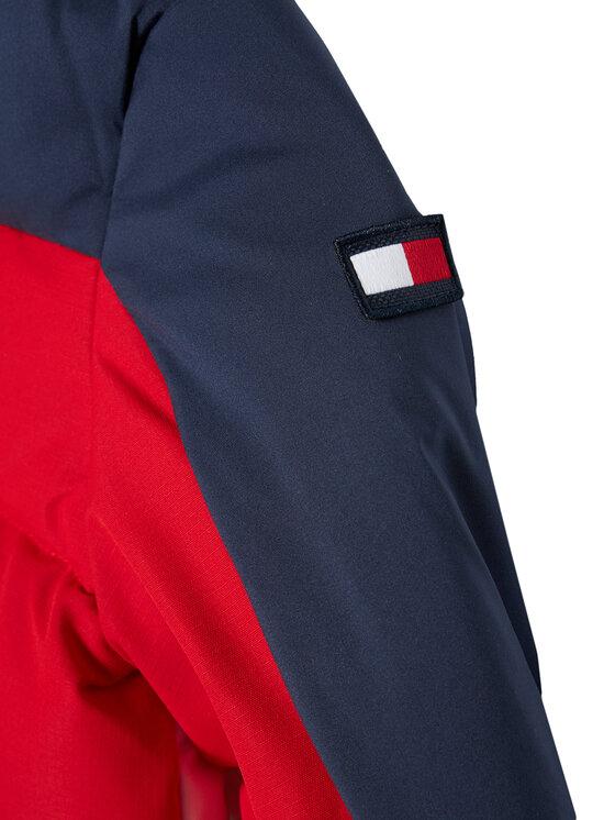 TOMMY HILFIGER TOMMY HILFIGER Kurtka puchowa Flag Hooded KB0KB05990 M Granatowy Regular Fit