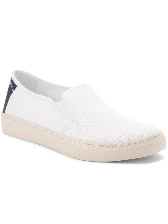Tommy Jeans Tommy Jeans Sneakers aus Stoff Light Slip On EM0EM00152 Weiß