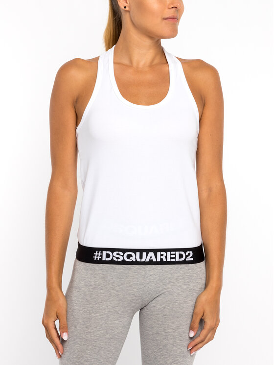 Dsquared2 Underwear Dsquared2 Underwear Top D8D452270 Alb Regular Fit