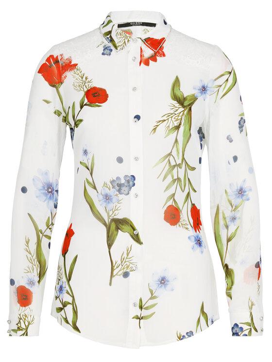 Guess Guess Koszula Clouis W92H74 W70Q0 Biały Regular Fit