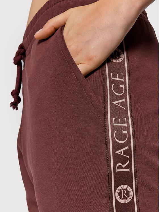 Rage Age Rage Age Spodnie dresowe Quinn Brązowy Regular Fit