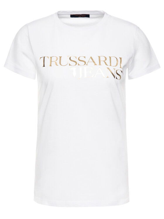 Trussardi Trussardi Тишърт 56T00220 Бял Regular Fit