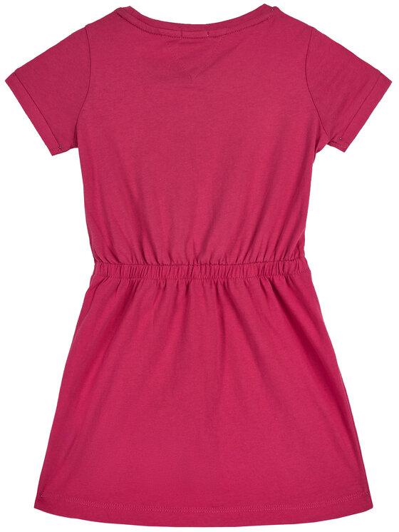 Tommy Hilfiger Tommy Hilfiger Φόρεμα καθημερινό Jersey KG0KG05158 M Ροζ Regular Fit