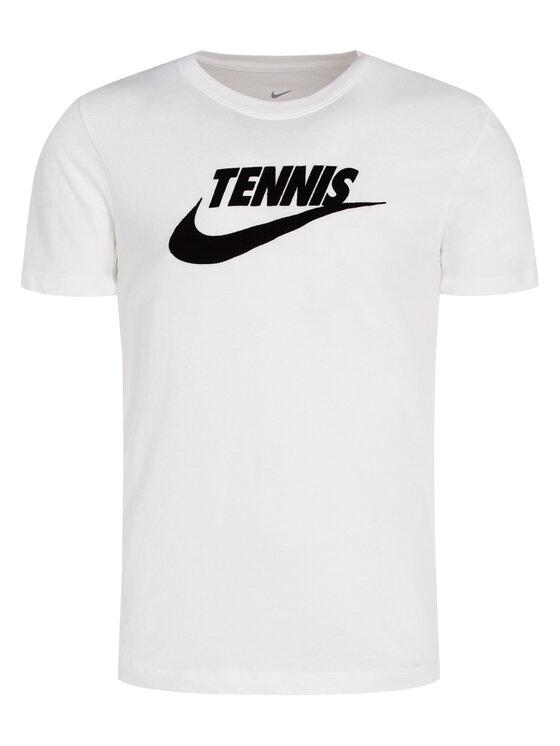 NIKE NIKE Marškinėliai Court CJ0429 Balta Standard Fit
