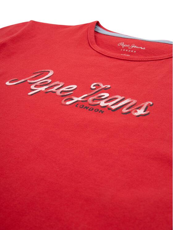 Pepe Jeans Pepe Jeans Тишърт Clemence PG502379 Червен Regular Fit