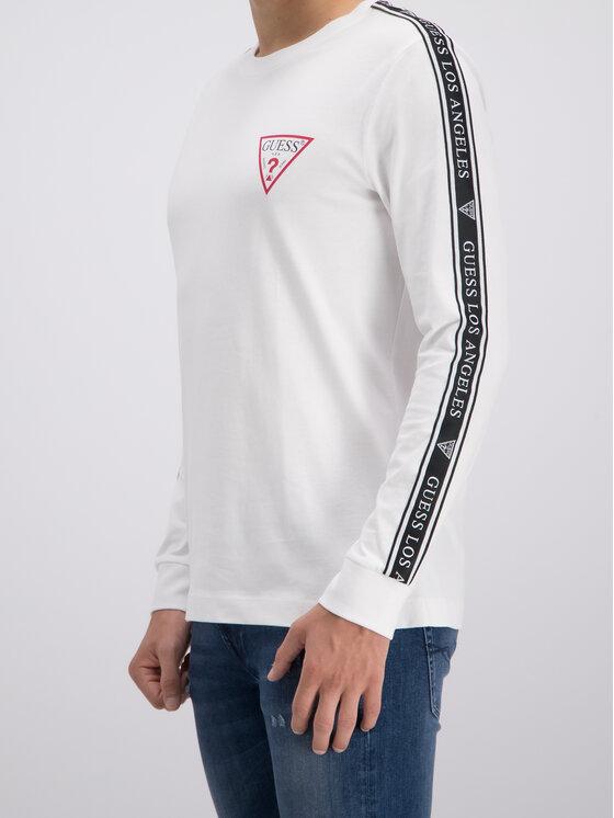Guess Guess Тениска с дълъг ръкав M93I48 K8FQ0 Бял Regular Fit