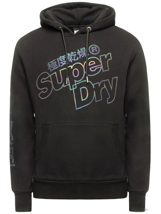 Superdry Superdry Μπλούζα Tonal Reacive M2000124B Μαύρο Regular Fit