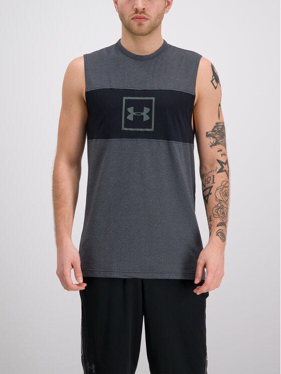 Under Armour Under Armour Tank top Men's UA Sportstyle Cotton Mesh 1329280 Gri Regular Fit