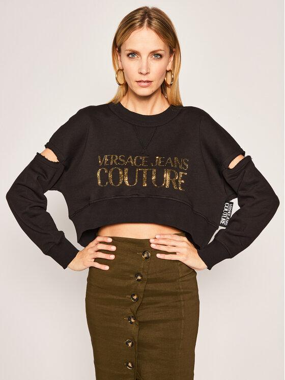 Versace Jeans Couture Versace Jeans Couture Pulóver B6HVA74T Fekete Regular Fit