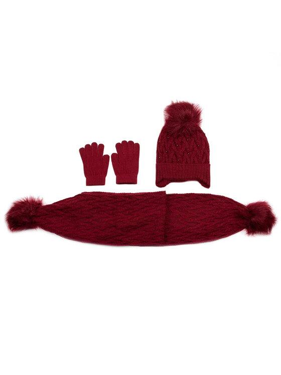 Mayoral Mayoral Комплект шапка, шал и ръкавици 10701 Бордо
