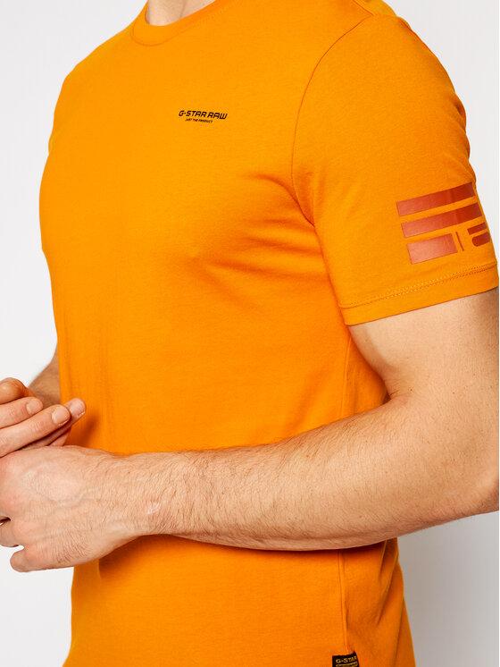 G-Star RAW G-Star RAW T-Shirt Text Gr D17135-336-B976 Pomarańczowy Slim Fit
