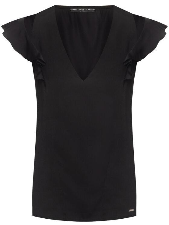 Guess Guess Bluse Dahab W01H92 W5OC0 Schwarz Regular Fit