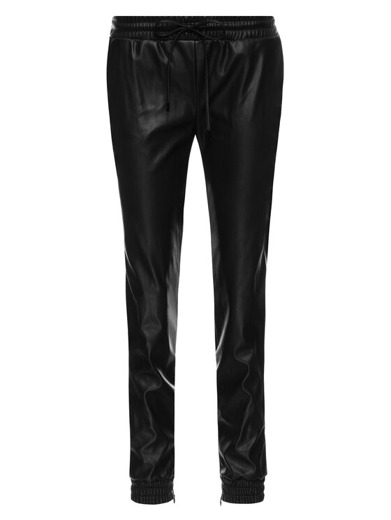 MICHAEL Michael Kors MICHAEL Michael Kors Кожени панталони MU93H5DBFS Черен Regular Fit