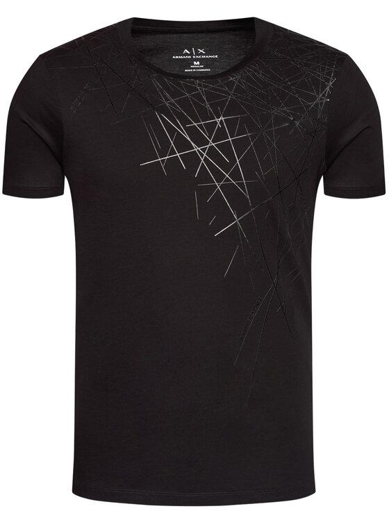 Armani Exchange Armani Exchange T-Shirt 6HZTLH ZJ9AZ 1200 Černá Regular Fit
