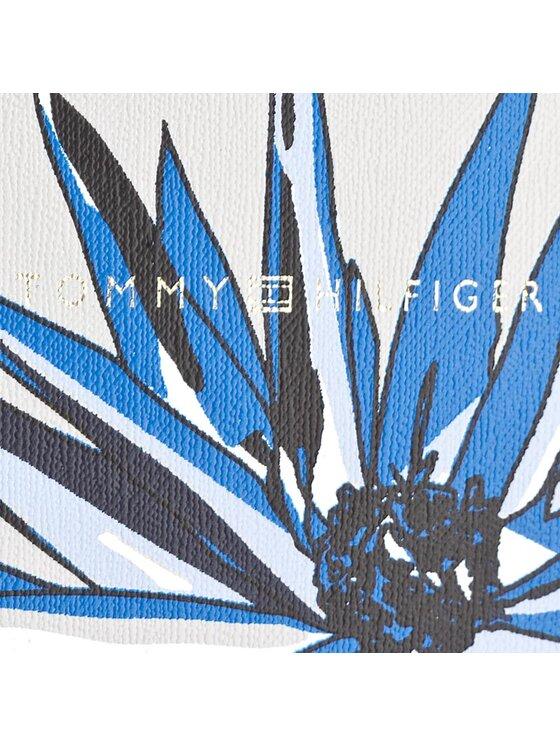 Tommy Hilfiger Tommy Hilfiger Borsa Super Tommy Tote Flower Print AW0AW04657 Bianco