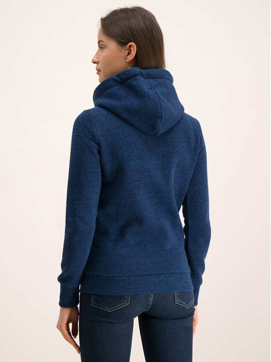 Superdry Superdry Felpa The Real Tonal Sequin Entry W2000047B Blu scuro Regular Fit