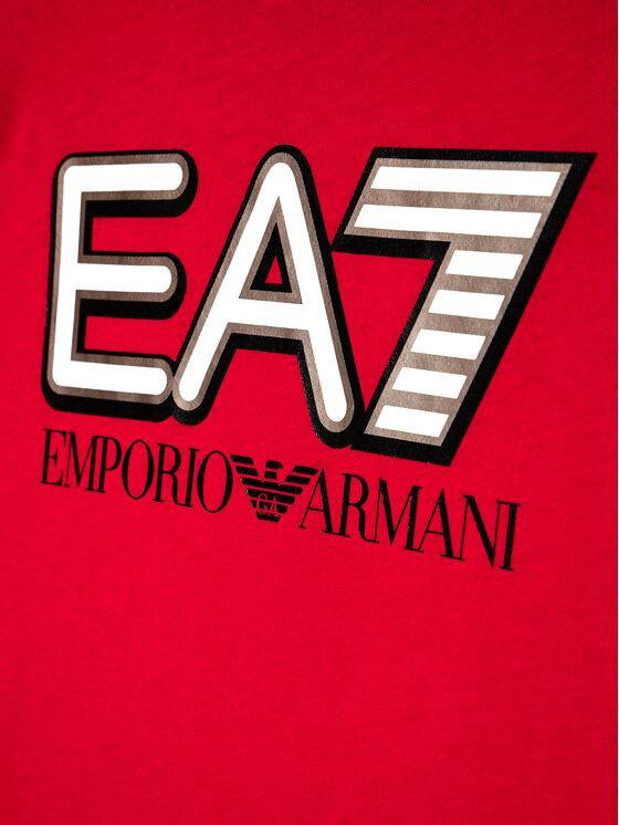 EA7 Emporio Armani EA7 Emporio Armani T-Shirt 6HBT53 BJ7CZ 1451 Czerwony Regular Fit
