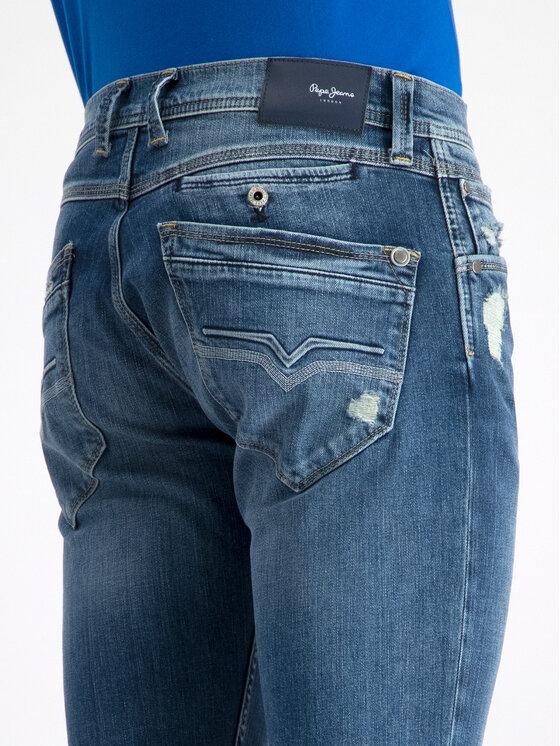 Pepe Jeans Pepe Jeans Jeansy Spike PM200029 Modrá Slim Fit