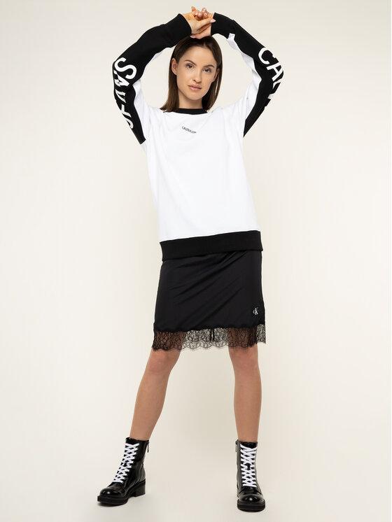 Calvin Klein Jeans Calvin Klein Jeans Felpa Logo Print J30J314120 Bianco Regular Fit