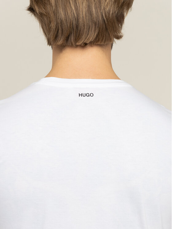 Hugo Hugo Marškinėliai Dinge 50421649 Balta Regular Fit