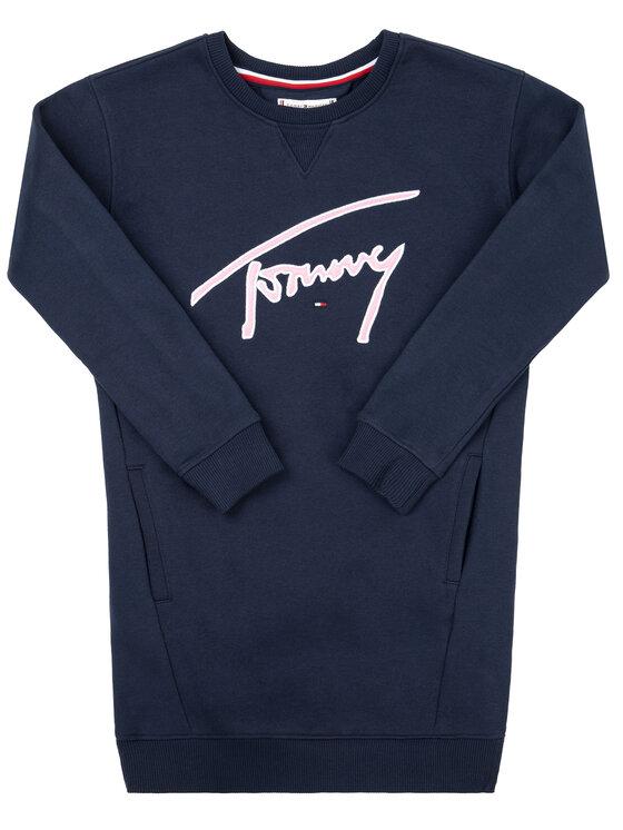Tommy Hilfiger Tommy Hilfiger Ежедневна рокля Signature KG0KG04743 D Тъмносин Regular Fit