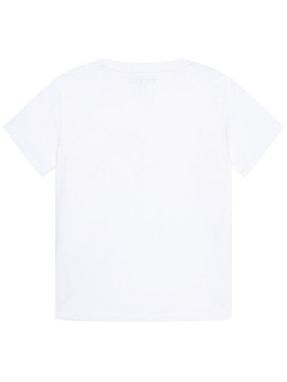 Guess Guess T-Shirt H1RT05 K8HM0 Biały Regular Fit