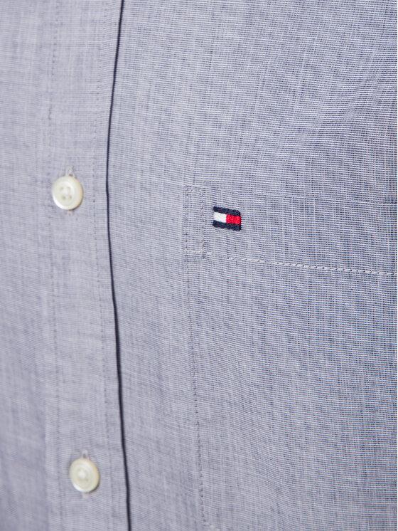 Tommy Hilfiger Tommy Hilfiger Hemd Cotton Dobby MW0MW10677 Grau Regular Fit