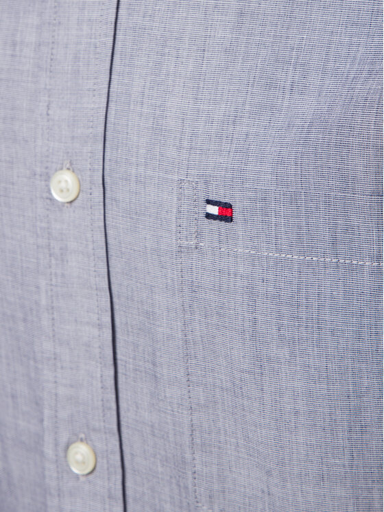 Tommy Hilfiger Tommy Hilfiger Marškiniai Cotton Dobby MW0MW10677 Pilka Regular Fit