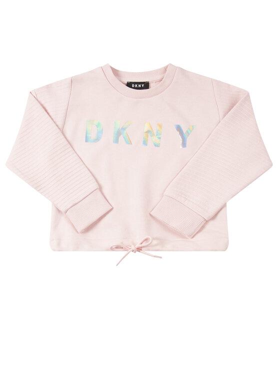 DKNY DKNY Bluza D35Q59 M Różowy Regular Fit
