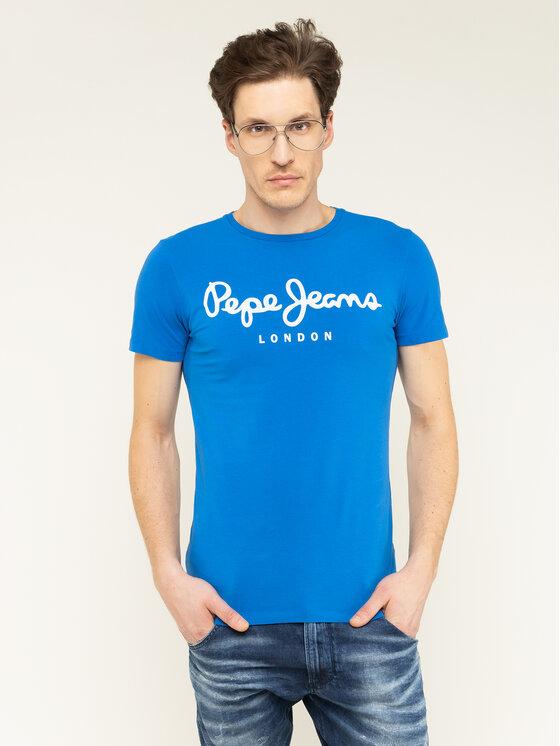Pepe Jeans Pepe Jeans T-shirt Original Stretch PM501594 Blu Slim Fit