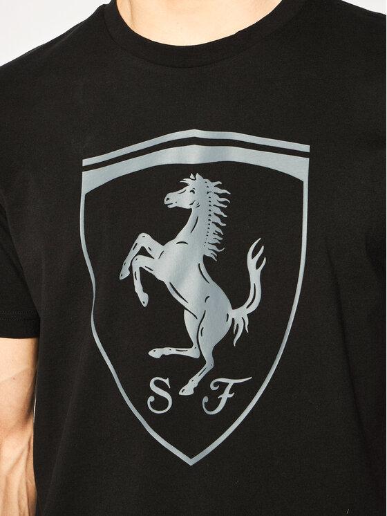 Puma Puma Тишърт Ferrari Big Shield Tee 595408 Черен Regular Fit