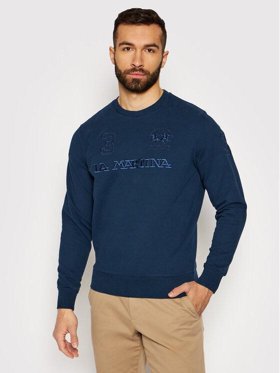 La Martina Džemperis RMF303 FP059 Tamsiai mėlyna Regular Fit