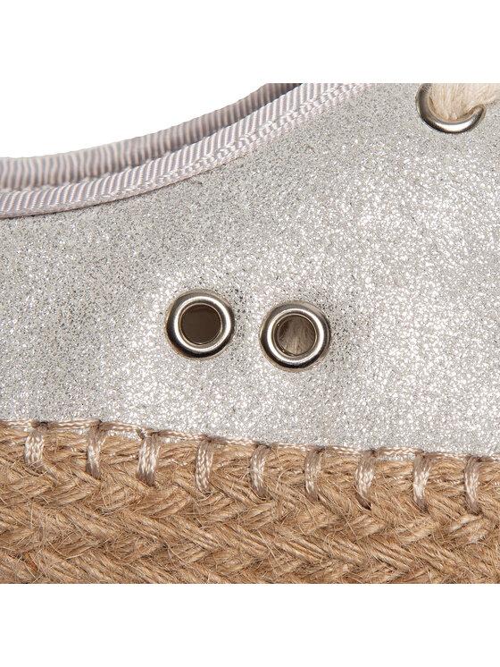 EMU Australia EMU Australia Espadryle Agonis Metallic Teens T11963 Srebrny