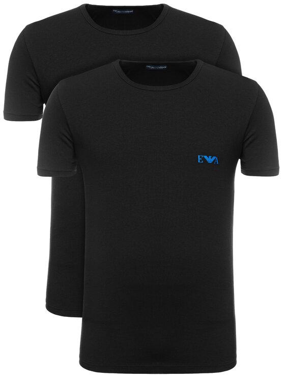 Emporio Armani Underwear Emporio Armani Underwear 2-dílná sada T-shirts 111670 9P715 17020 Černá Regular Fit