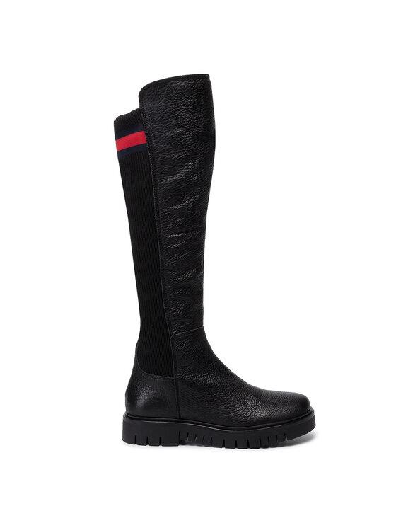 Tommy Jeans Tommy Jeans Čižmy Flag Sock Tommy Jeans Boot EN0EN00661 Čierna