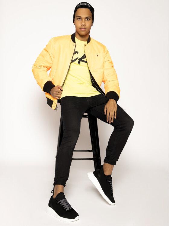 Calvin Klein Swimwear Calvin Klein Swimwear Тишърт Retro Crew Tee KM0KM00467 Жълт Regular Fit